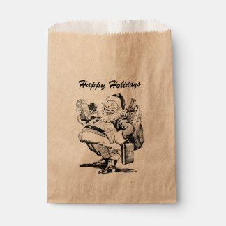 Retro Christmas Santa Vintage Camera Photography Favor Bag