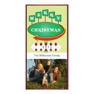 Retro Christmas Sign Photo Card