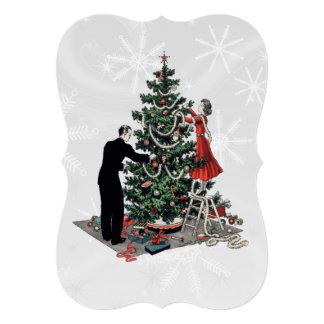 Retro Christmas Tree 5x7 Paper Invitation Card