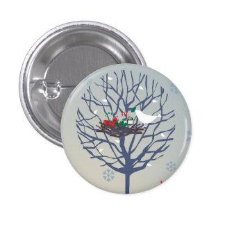 Retro Christmas tree 1 Inch Round Button