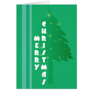 Retro Christmas Tree Design Card