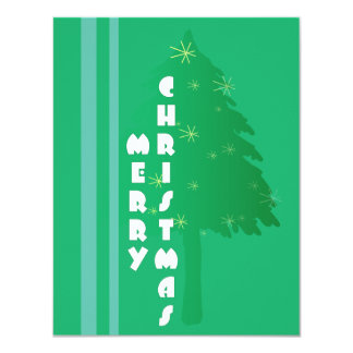 Retro Christmas Tree Design Card