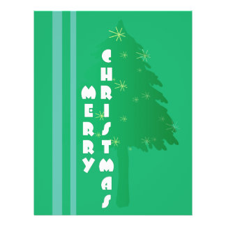 "Retro Christmas Tree Design 8.5"" X 11"" Flyer"