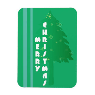 Retro Christmas Tree Design Magnet