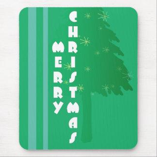 Retro Christmas Tree Design Mouse Pad