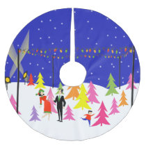 Retro Christmas Tree Farm Christmas Tree Skirt