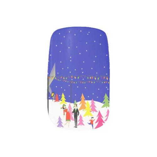 Retro Christmas Tree Farm Minx Nail Art Stickers Minx® Nail Wraps