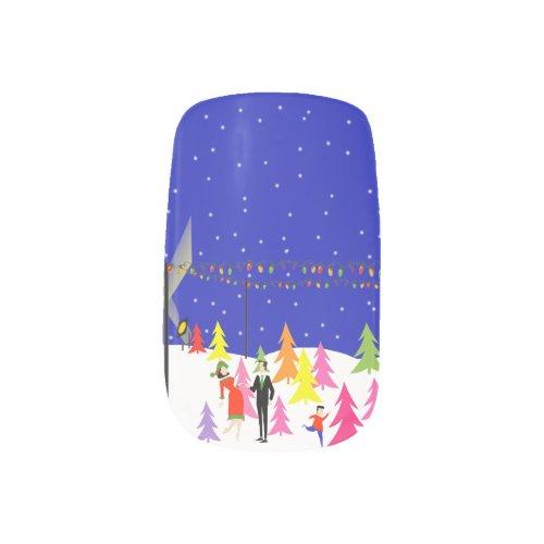 Retro Christmas Tree Farm Minx Nail Art Stickers Minx® Nail Wraps