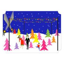Retro Christmas Tree Farm Party Invitations
