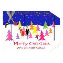 Retro Christmas Tree Farm Photo Card