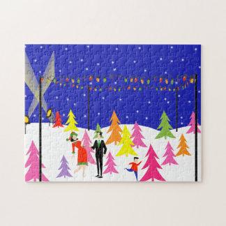 Retro Christmas Tree Farm Puzzle