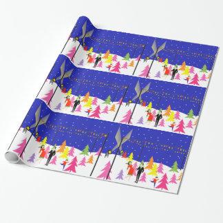 Retro Christmas Tree Farm Wrapping Paper