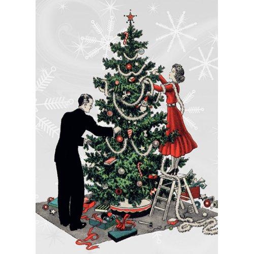 Retro Christmas Tree invitation