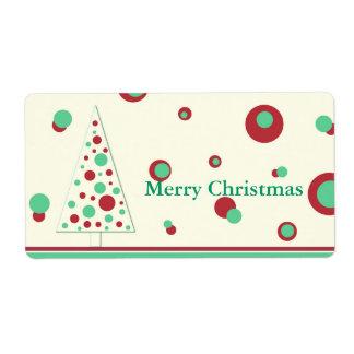 Retro Christmas tree - Label