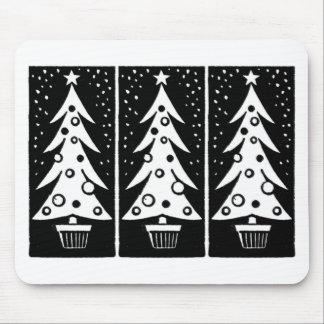 Retro Christmas Tree Mouse Pad