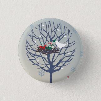 Retro Christmas tree Pinback Button