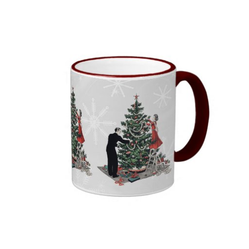 Retro Christmas Tree Ringer Coffee Mug