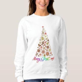 Retro Christmas Tree Women's Basic Sweatshirt