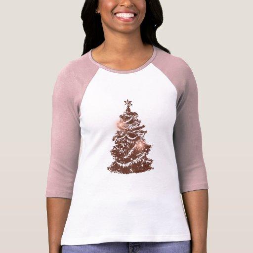 Retro Christmas Tree Womenu0026#39;s T-shirts   Zazzle