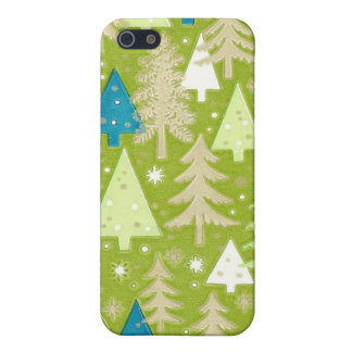 Retro Christmas Tree Wrapping Paper Case For iPhone SE/5/5s
