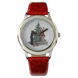 Retro Christmas Tree Wrist Watch