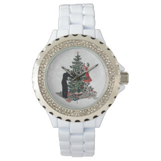 Retro Christmas Tree Wrist Watches
