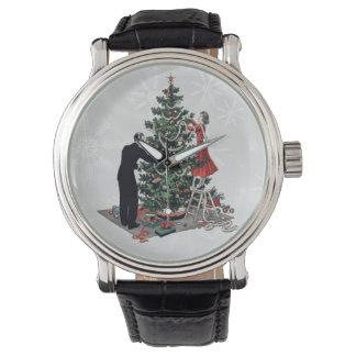 Retro Christmas Tree Wristwatches