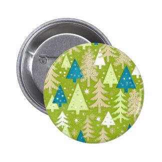 Retro Christmas Trees Buttons