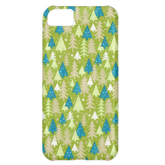 Retro Christmas Trees iPhone 5C Barely There Case