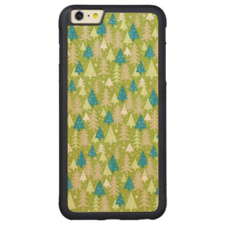 Retro Christmas Trees Wood Cases iPhones, Samsung