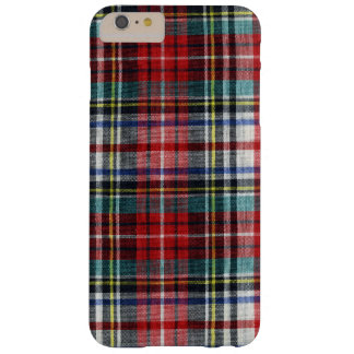 Retro Christmas Winter Plaid, Red Warm Cozy Barely There iPhone 6 Plus Case