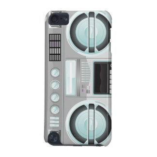retro chrome color boom box ghetto blaster boombox iPod touch 5G covers