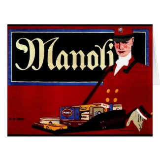 Retro Cigarette Ad 1911 Card