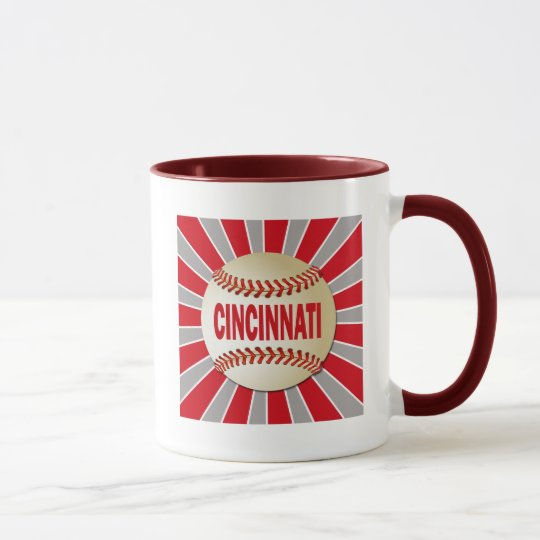 RETRO CINCINNATI BASEBALL MUG