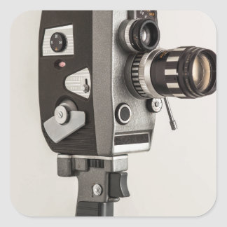 Retro Cinema camera Square Sticker