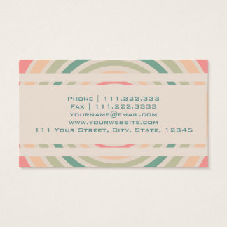 Retro Circle Business Card
