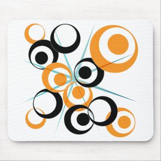 Retro Circle design Mouse Pad