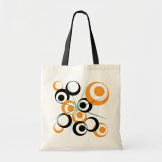 Retro Circle design Tote Bag