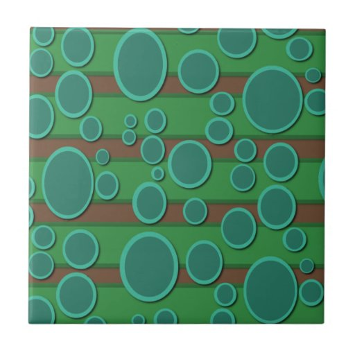Retro Circle Small Square Tile