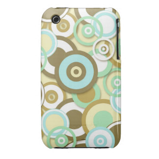 Retro Circle Targets Pattern in Muted Colors iPhone 3 Case