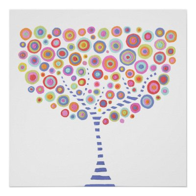 Room  on Retro Circle Tree Room Wall Art Canvas Poster From Zazzle Com