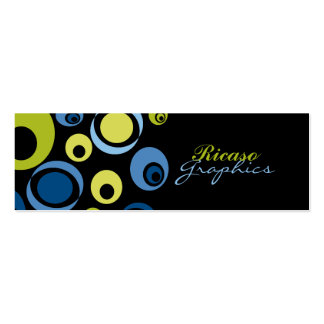 Retro Circled Double-Sided Mini Business Cards (Pack Of 20)