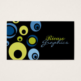 Retro Circled Business Card