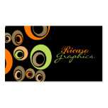 Retro Circled Double-Sided Standard Business Cards (Pack Of 100)