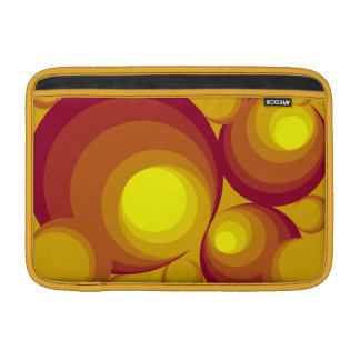 "Retro Circles  11"" Macbook Air Sleeve"