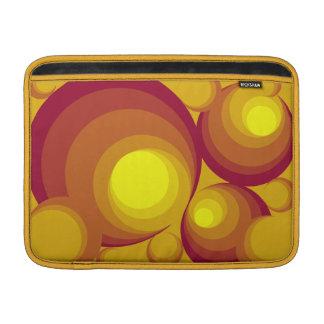 "Retro Circles 13"" Horizontal Macbook Air Sleeve"