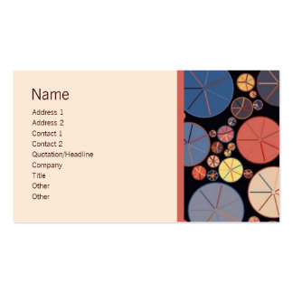 Retro Circles 1 Customizable Biz Cards Double-Sided Standard Business Cards (Pack Of 100)
