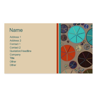 Retro Circles 2 Customizable Bordered Biz Cards Double-Sided Standard Business Cards (Pack Of 100)