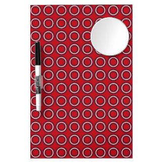 Retro Circles A Go-Go Dry Erase Board With Mirror