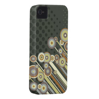 Retro Circles Abstract Stripes iPhone 4 CaseMate iPhone 4 Case-Mate Case
